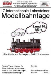 17e Internationale Lahnsteiner Modellbahntage 2019 Poster