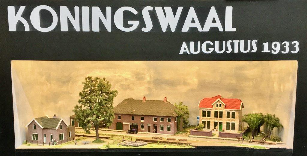 modelspoorbaan Koningswaal, augustus 1933.