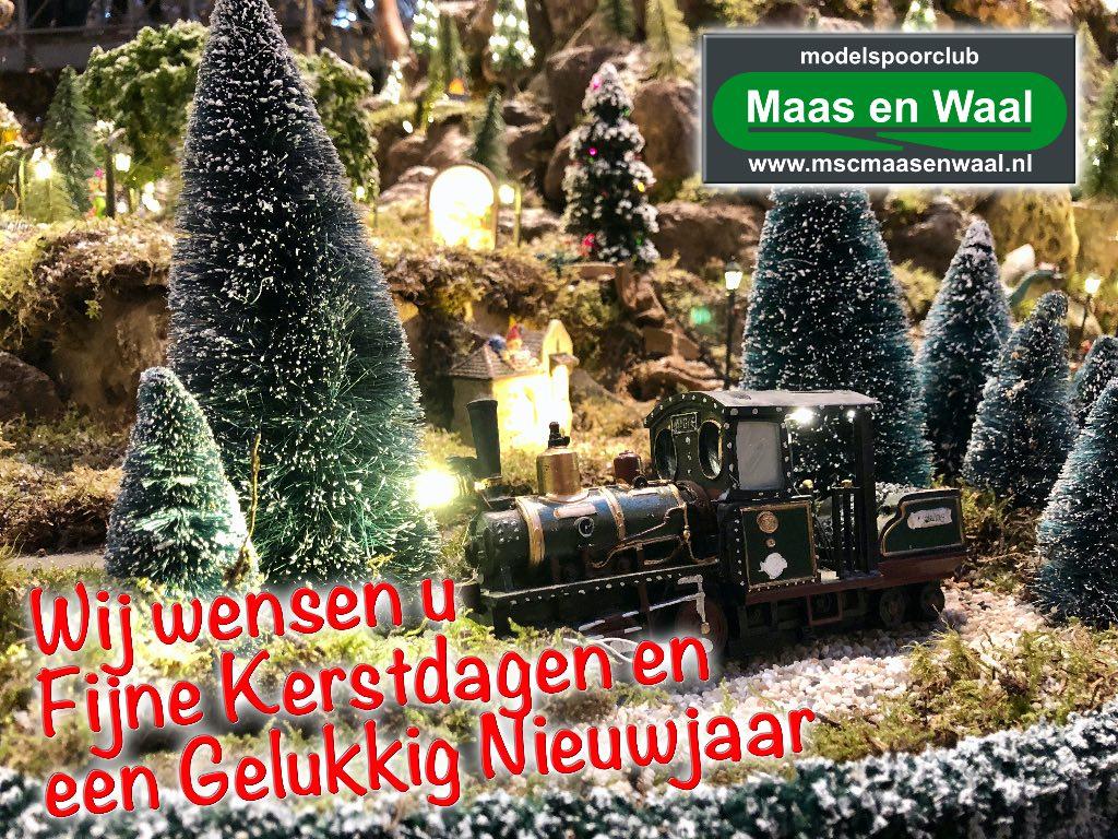 modelspoorclub Maas en Waal Kerst- en Nieuwjaarswens 2019-2020