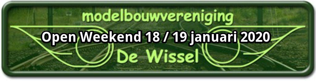 MBV De Wissel - Open Weekend 18 en 19 januari 2020 - Banner