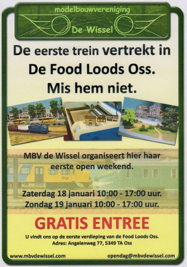 MBV De Wissel - Open Weekend 18 en 19 januari 2020 - Flyer