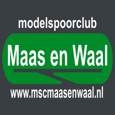 Modelspoorclub Maas en Waal - logo vierkant model voor online gebruik