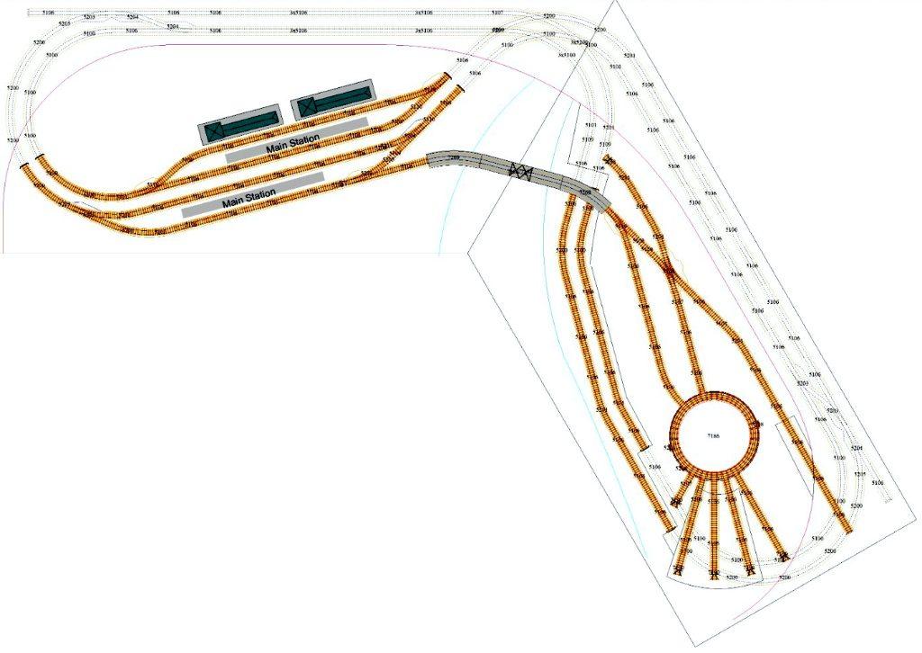 modelspoorbaan M-Bahn Baanplan juni 2019