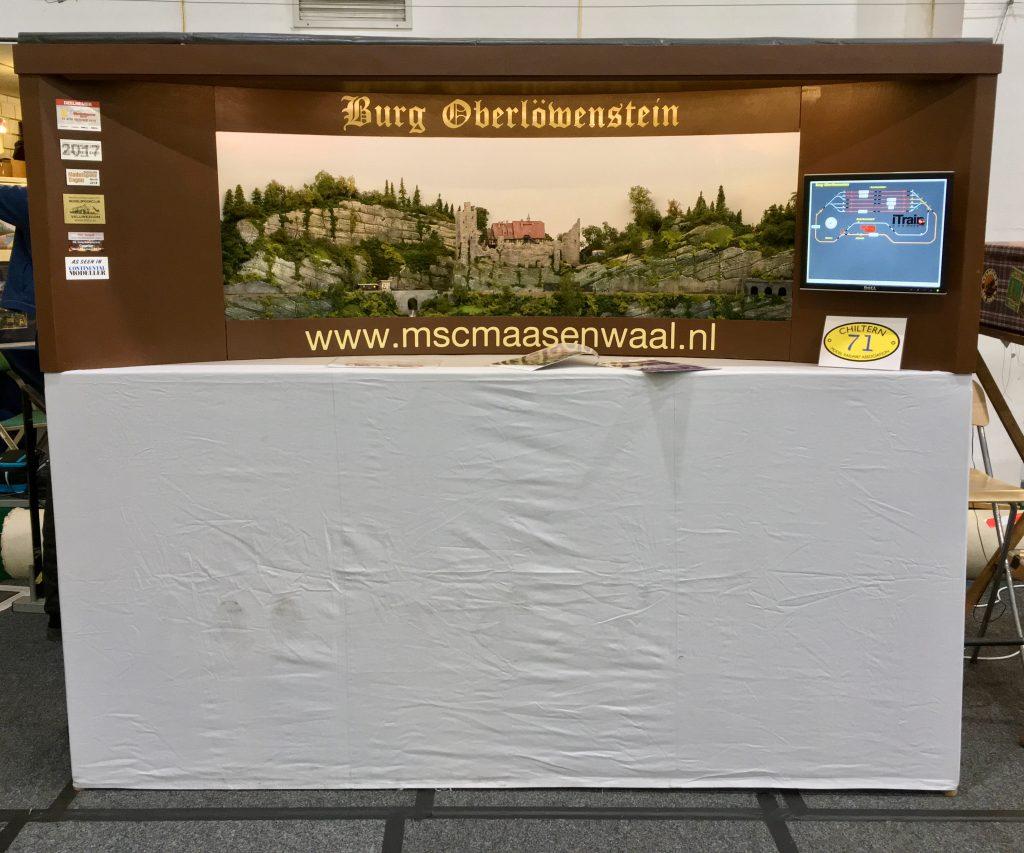 The Chiltern Model Railway Exhibition 2019 - Modelspoorclub Maas en Waal - Burg Oberlöwenstein - Standnummer 71.