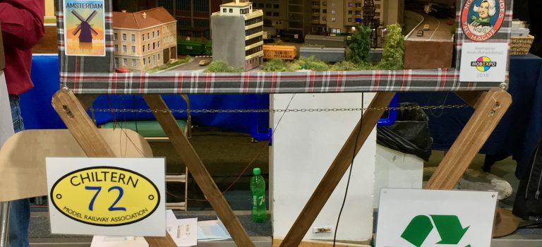 The Chiltern Model Railway Exhibition 2019 - Modelspoorclub Maas en Waal - Kofferbaantje Kringloop - standnummer 72