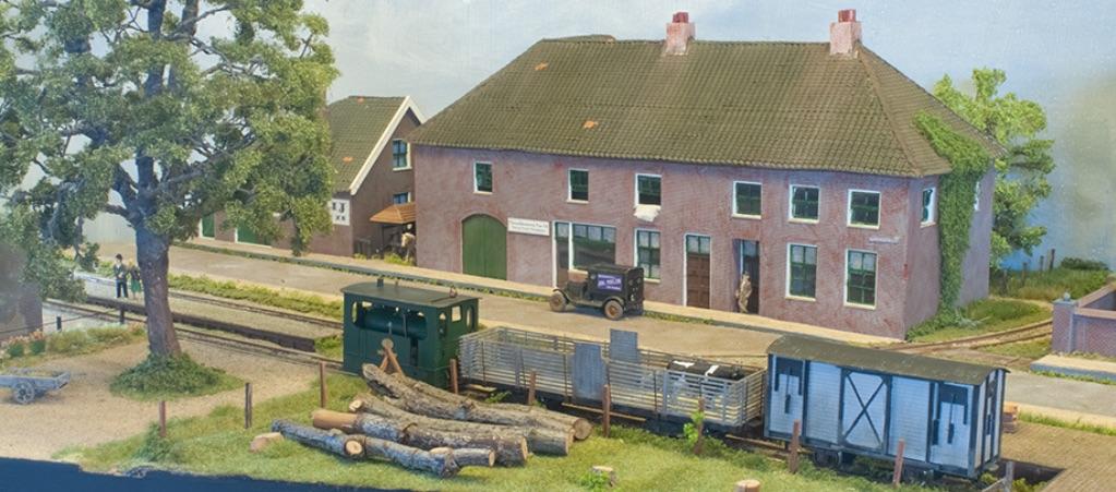 modelspoorbaan Koningswaal Backertje Nr2 bij laad en losperron