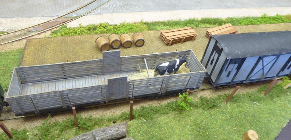 modelspoorbaan Koningswaal Goederenwagen met Stier
