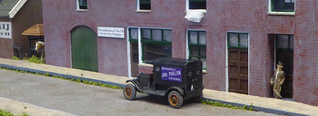 modelspoorbaan Koningswaal T-Ford van bakker Poelen
