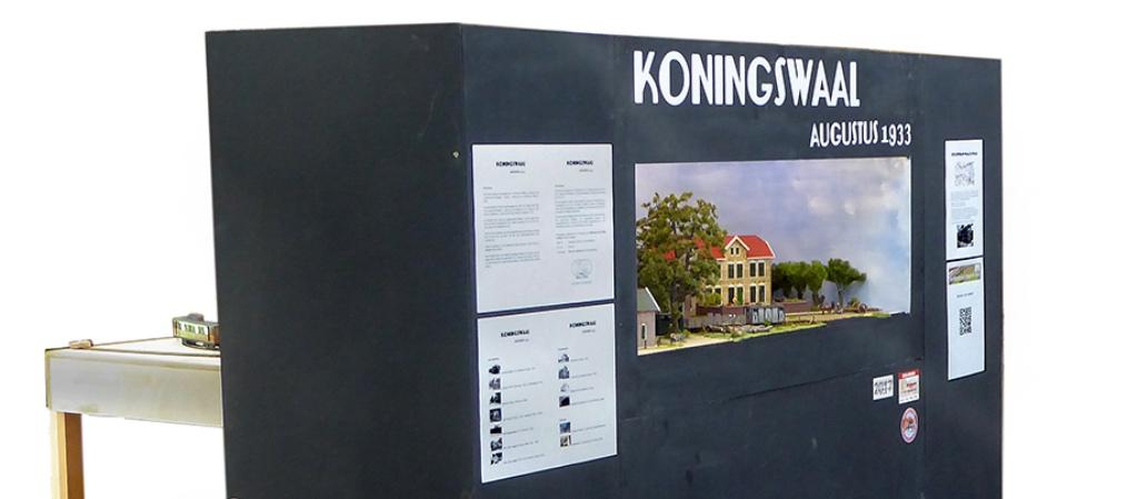 modelspoorbaan Koningswaal overzicht foto diagonaal