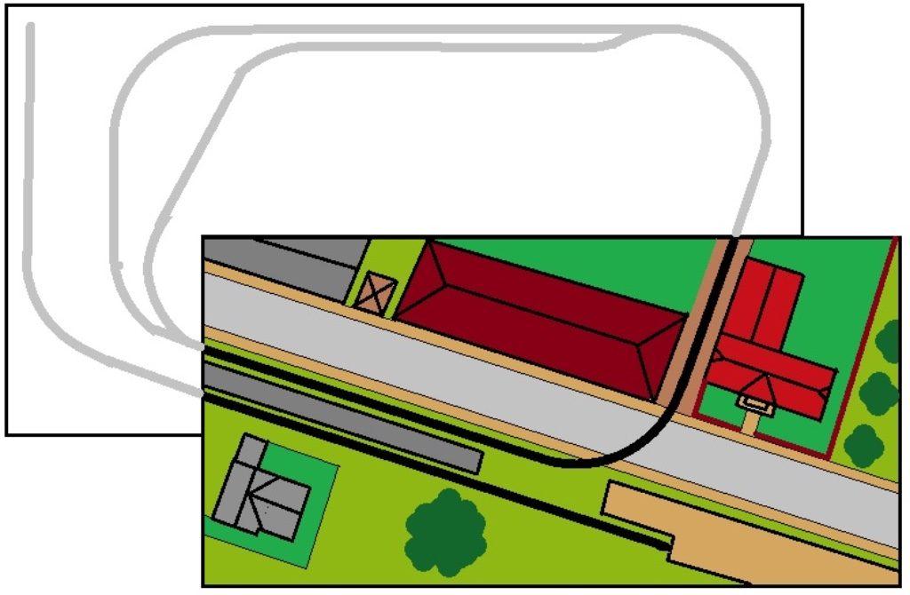 modelspoorbaan Koningswaal tekening sporenplan
