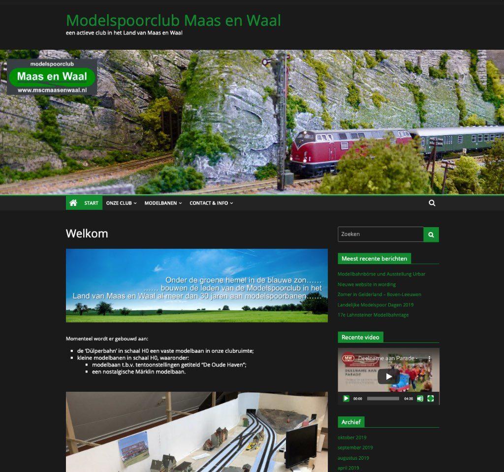 Printscreen nieuwe website.