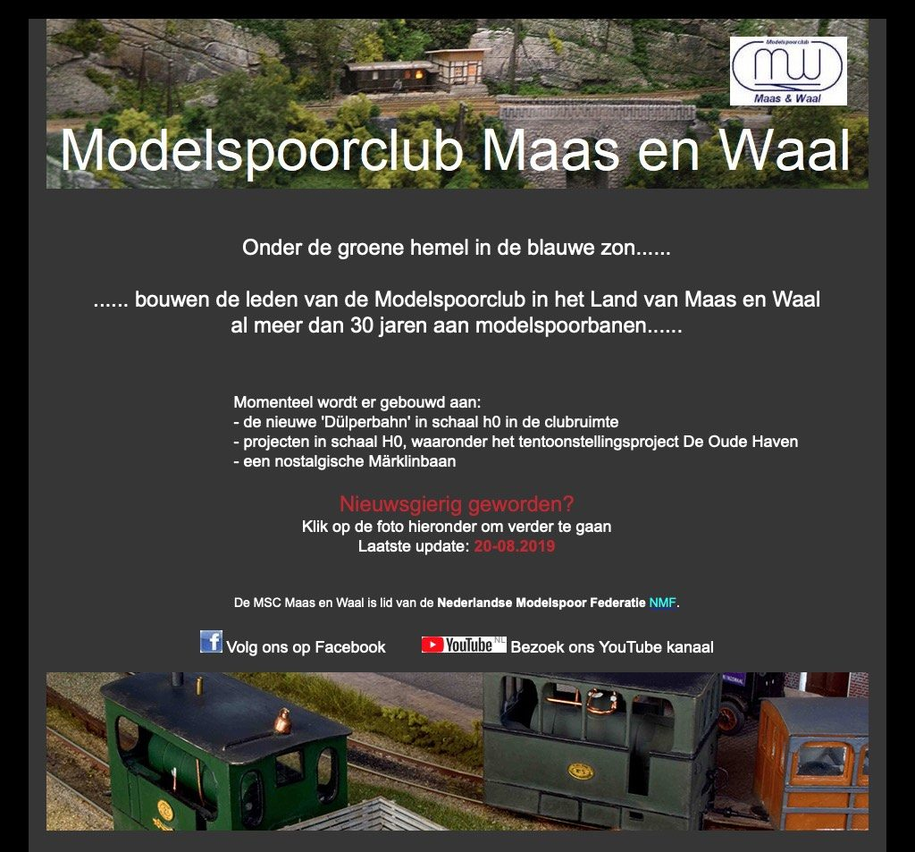 Printscreen oude website.