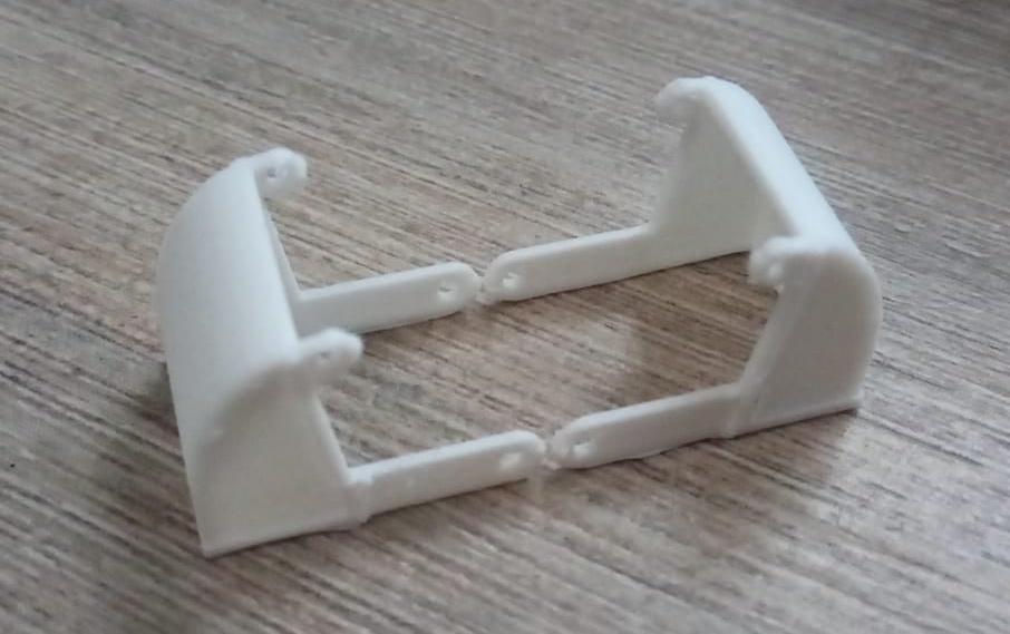 Modelspoorbaan Oude Haven - eerste 3D-print grijper voor kraan
